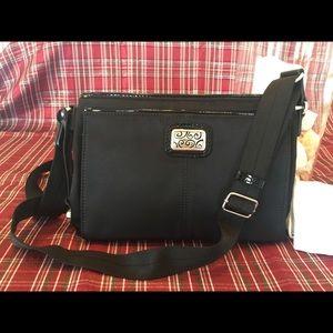 Brighton Black Organizer Handbag